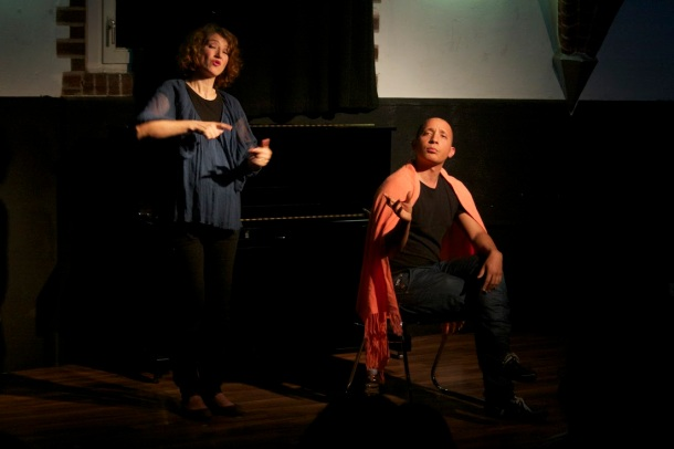 With Anthony Andrews at his Storytelling performance KUMSITZ, Berlin 2014